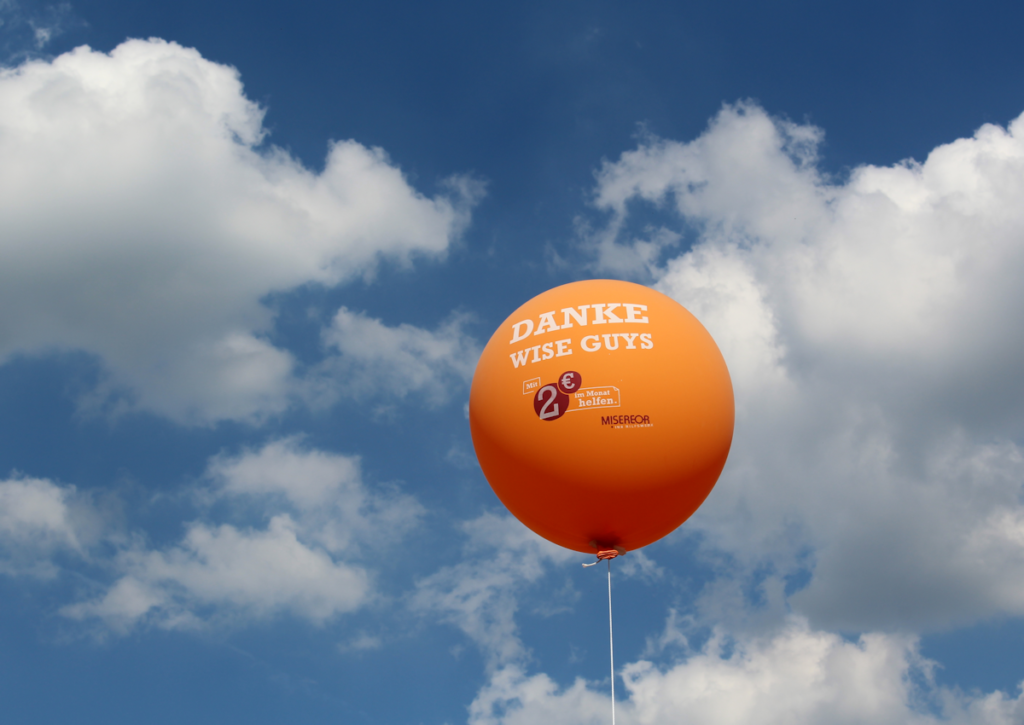 Danke Wise Guys Luftballon